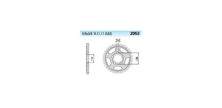 Chiaravalli - Carat Racing rozeta 2053-50 zubov EMD (520-5-8x1-4)