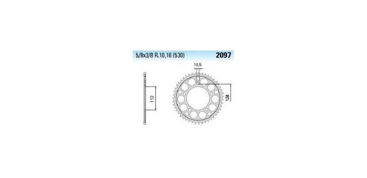 Chiaravalli - Carat rozeta 2097-49 zubov C (530-5-8x3-8)