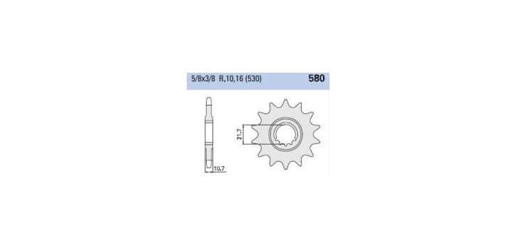 Chiaravalli - Carat sekundár 580-16 zubov K (530-5-8x3-8)