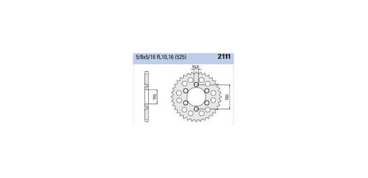 Chiaravalli - Carat rozeta 2111-44 zubov C (525-5-8x5-16)