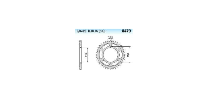 Chiaravalli - Carat Racing rozeta 479-46 zubov  EMD (520-5-8x1-4)