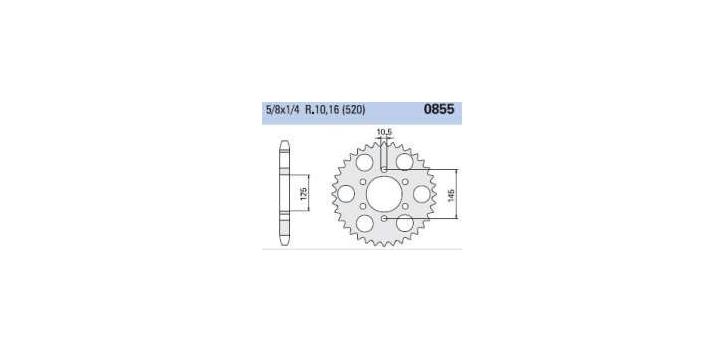 Chiaravalli - Carat rozeta 855-45 zubov C (520-5-8x1-4)