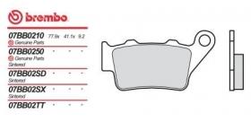 Brembo brzdové platničky 07BB0235 zadné