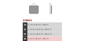 Brembo brzdové platničky 07BB3396 predné