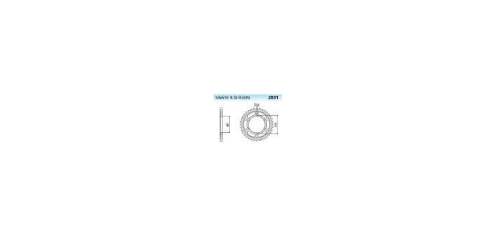 Chiaravalli - CaratCHI Zahnkranz 2031-40 Zahne THF (525-5-8x5-16)