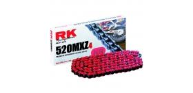 RK reťaz 525GXW / článok - ružová