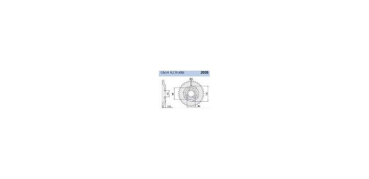 Chiaravalli - CaratCHI Zahnkranz 2035-53 Zahne  (420-1-2x1-4)