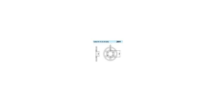 Chiaravalli - CaratCHI Zahnkranz 2041-40 Zahne THF (525-5-8x5-16)
