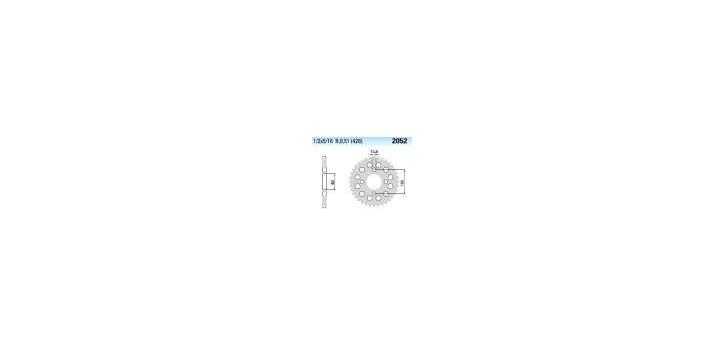Chiaravalli - CaratCHI Zahnkranz 2052-45 Zahne (428-1-2x5-16)