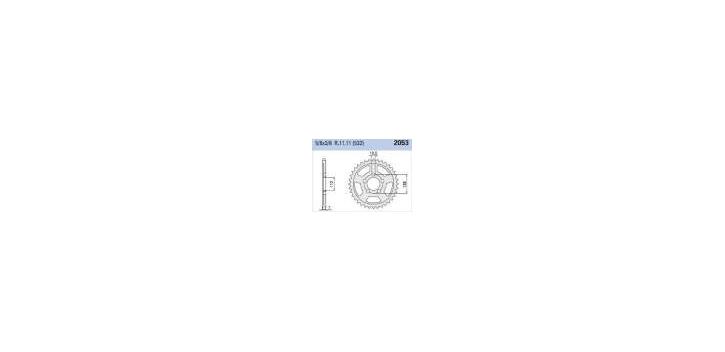 Chiaravalli - CaratCHI Zahnkranz 2053-49 Zahne C (532-5-8x3-8)