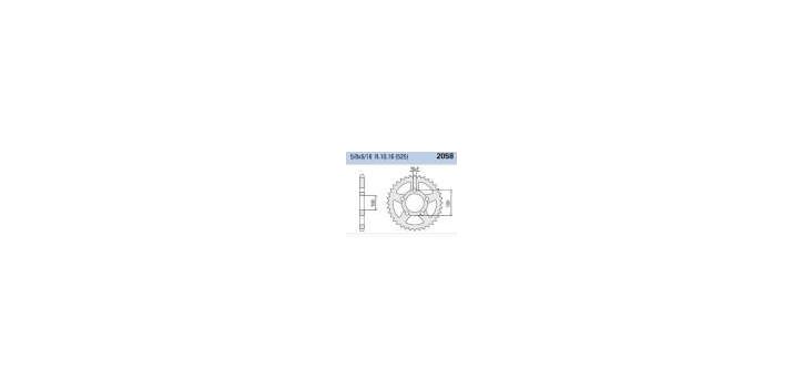 Chiaravalli - CaratCHI Zahnkranz 2058-43 Zahne THF (525-5-8x5-16)