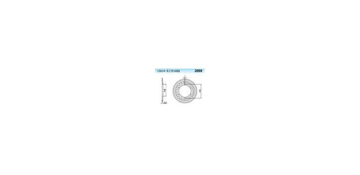 Chiaravalli - CaratCHI Zahnkranz 2059-52 Zahne (420-1-2x1-4)