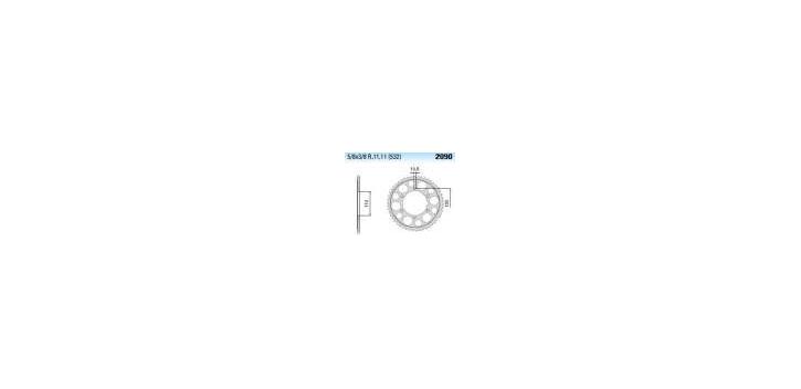 Chiaravalli - CaratCHI Zahnkranz 2090-49 Zahne THF (532-5-8x3-8)