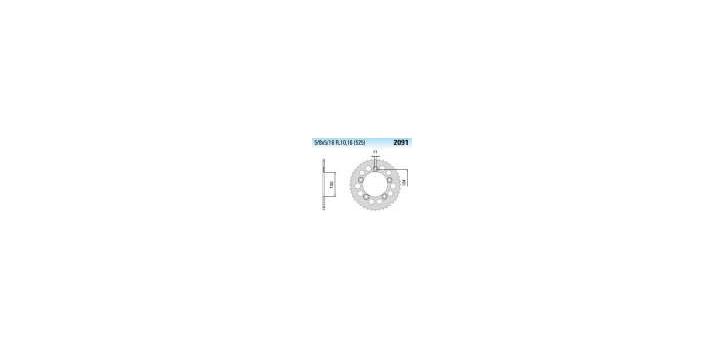 Chiaravalli - CaratCHI Zahnkranz 2091-41 Zahne THF (525-5-8x5-16)