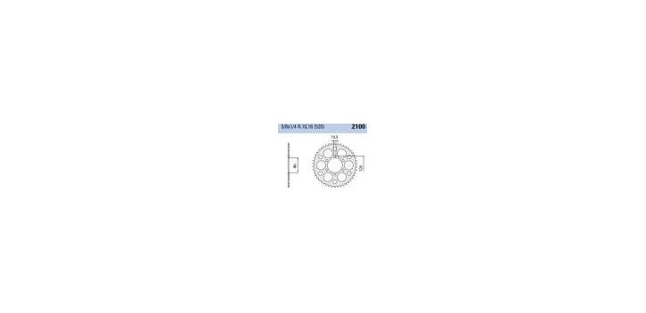 Chiaravalli - CaratCHI Zahnkranz 2100-46 Zahne ED (520-5-8x1-4) far Marvic Felge