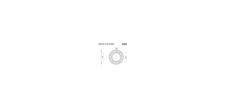 Chiaravalli - CaratCHI Zahnkranz 2104-39 Zahne C (525-5-8x5-16)