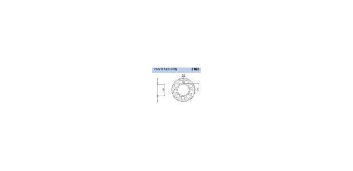 Chiaravalli - CaratCHI Zahnkranz 2106-50 Zahne (428-1-2x5-6)
