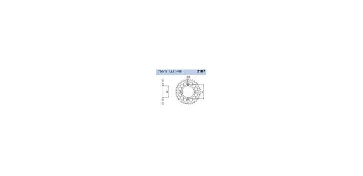 Chiaravalli - CaratCHI Zahnkranz 2107-42 Zahne E (428-1-2x5-16)