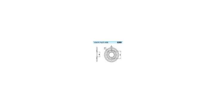 Chiaravalli - CaratCHI Zahnkranz 269-37 Zahne (428-1-2x5-16)  - Abverkaufsartikel