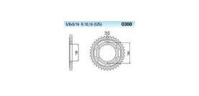Chiaravalli - CaratCHI Zahnkranz 300-43 Zahne (525-5-8x5-16)