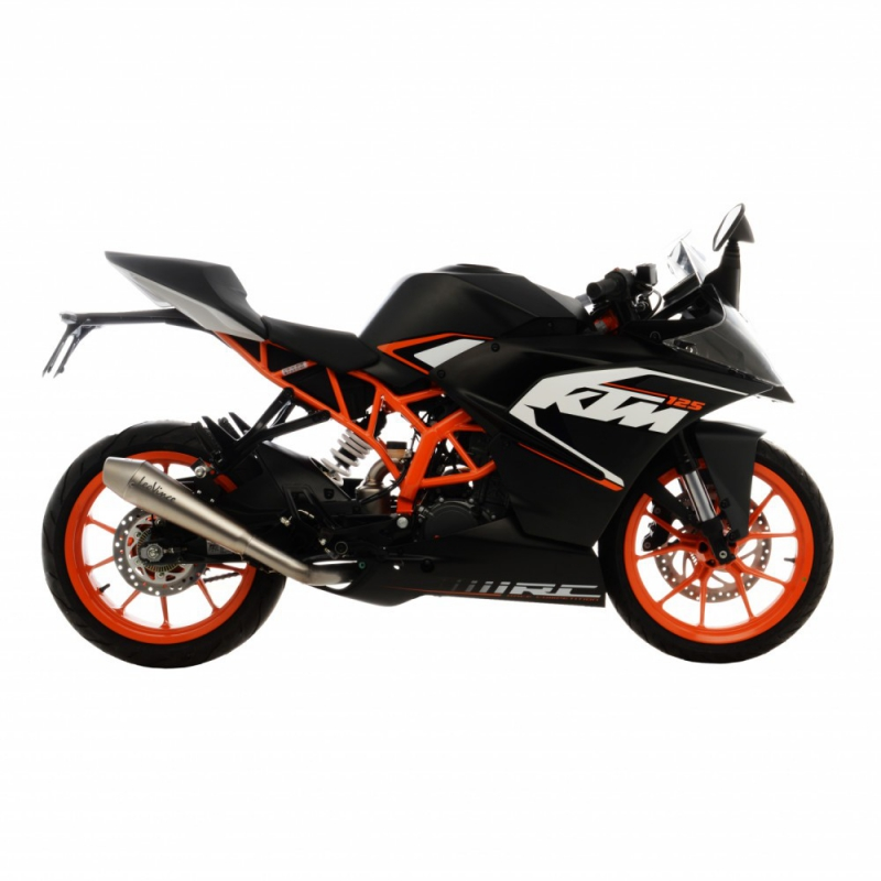leo vince ktm rc 125 125ccm slip on 2015. Black Bedroom Furniture Sets. Home Design Ideas