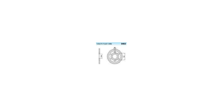 Chiaravalli - CaratCHI Zahnkranz 463-48 Zahne (428-1-2x5-16)