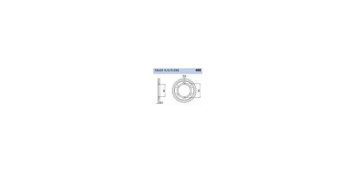 Chiaravalli - CaratCHI Zahnkranz 488-44 Zahne THF (530-5-8x3-8)