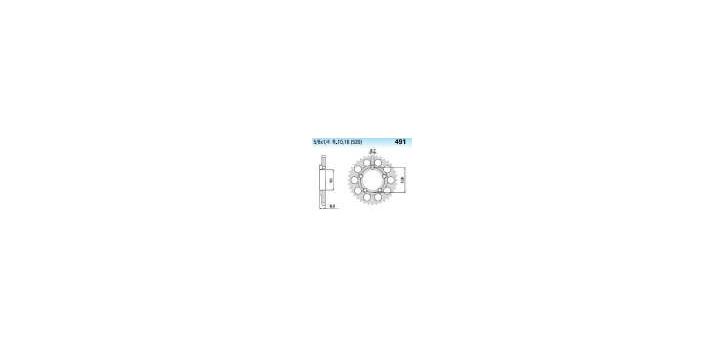 Chiaravalli - CaratCHI Zahnkranz 491-38 Zahne (520-5-8x1-4)
