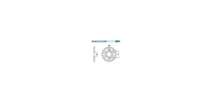Chiaravalli - CaratCHI Zahnkranz 501-34 Zahne (630-3-4x3-8) - Auslaufartikel