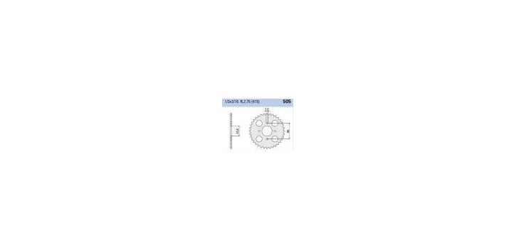 Chiaravalli - CaratCHI Zahnkranz 505-44 Zahne (415-1-2x3-16)