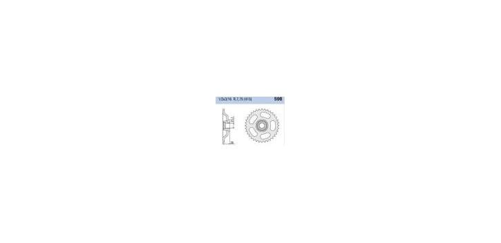 Chiaravalli - CaratCHI Zahnkranz 598-37 Zahne (415-1-2x3-16)