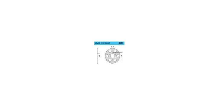 Chiaravalli - CaratCHI Zahnkranz 814-50 Zahne (530-5-8x3-8) - Auslaufartikel