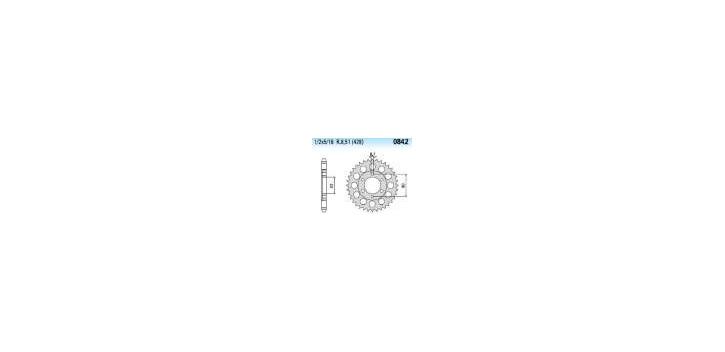 Chiaravalli - CaratCHI Zahnkranz 842-42 Zahne (428-1-2x5-16) - Auslaufartikel